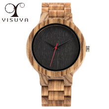YISUYA Wooden Watches Quartz Analog Men Bamboo Modern Wristwatch Nature Wood Top 2018 Creative Sports Clock saat Xmas Gifts