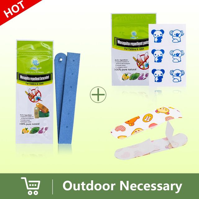 Kongdy Brand 5pieces Insect Repellent Bracelet 30pieces Mosquito Cartoon Patch 2pieces Bandages