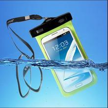 """5.8 """"tela de toque à prova d' água saco da tampa do caso para o iphone 7 5S 5c se 6 6 s além de samsung galaxy s7 edge s6 s5 s4 note 5 4 3 neo a7 A8"""