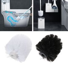 цена на Universal Replacement Toilet Brush Head Holder White Black Clean Spare Tools Toiletborstel Home Bathroom Accessories