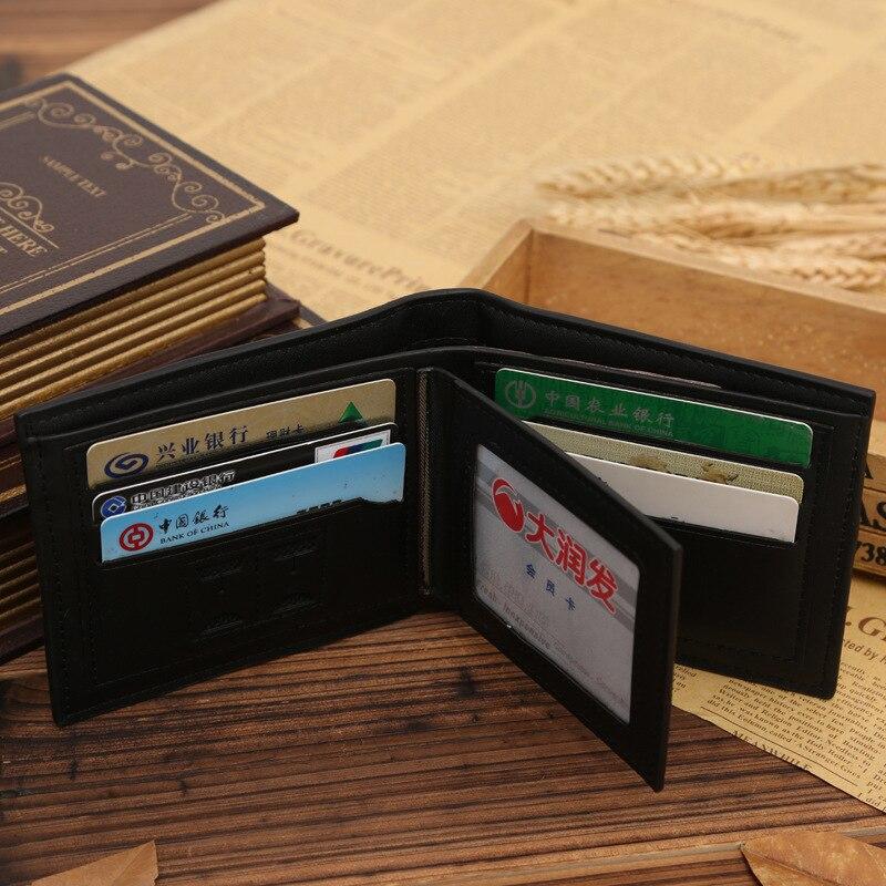 New PU leather wallet men wallets luxury brand clutch wallet Brown money clip men's leather wallet male purse cuzdan JINBAOLAI 3