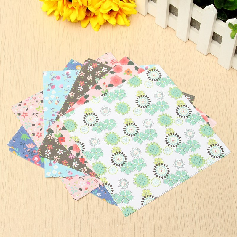 Fashion 24 sheets mix color square origami folding paper flower fashion 24 sheets mix color square origami folding paper flower pattern papers 6 different patterns diy craft paper 145x145cm in craft paper from home mightylinksfo Image collections