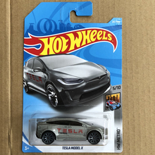 New Arrivals 2018 8L Hot Wheels 1:64 silvery TESLA MODEL X Car Models Collection Kids Toys Vehicle For Children hot cars