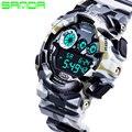 Новые Горячие Продажи Санда Мода Повседневная Часы Мужчины Военный Водонепроницаемый Роскошный Спортивный Цифровые Часы Мужские Наручные Часы