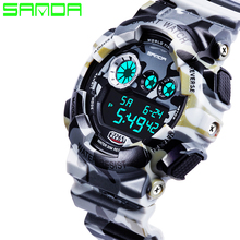 New Hot Sale Sanda Fashion Casual Watch Men Military Waterproof Luxury Sports Digital Watch Male