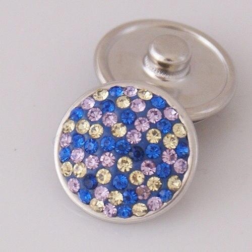 Fashion Beauty Rhinestone Dots 18MM Shambala manual snap buttons  fit DIY 18mm snap jewelry wholesale