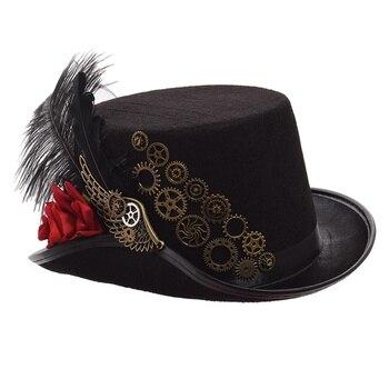 Шляпа в стиле Стимпанк с очками в ассортименте вариант 2