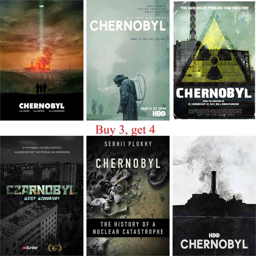 chernobyl posters glossy paper prints wall decoration good quality stickers home art brand