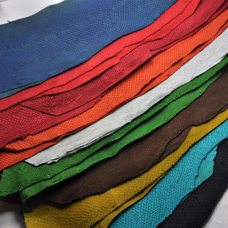 45*10 см цветная натуральная лососевая рыбья кожа, разные цвета на выбор, сумка, ремень, аксессуары для обуви