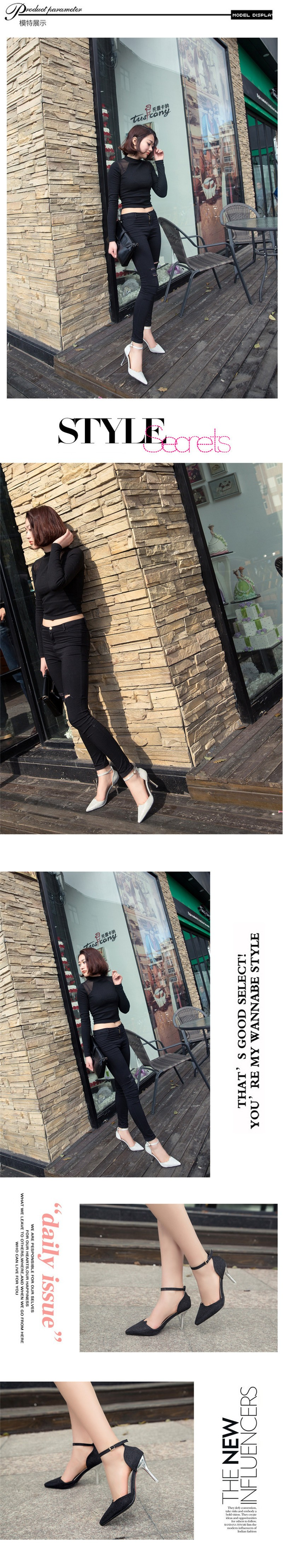 2016 New Hot Sale New European Fashion Sequins 4 Color High Quality Pointed Toe Women Pumps HSB23 (5)