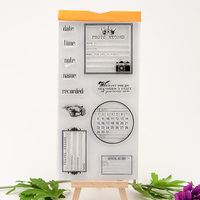 PDA prerequisite transparent silicone clear stamps album diary craft DIY scrapbook YJ6607
