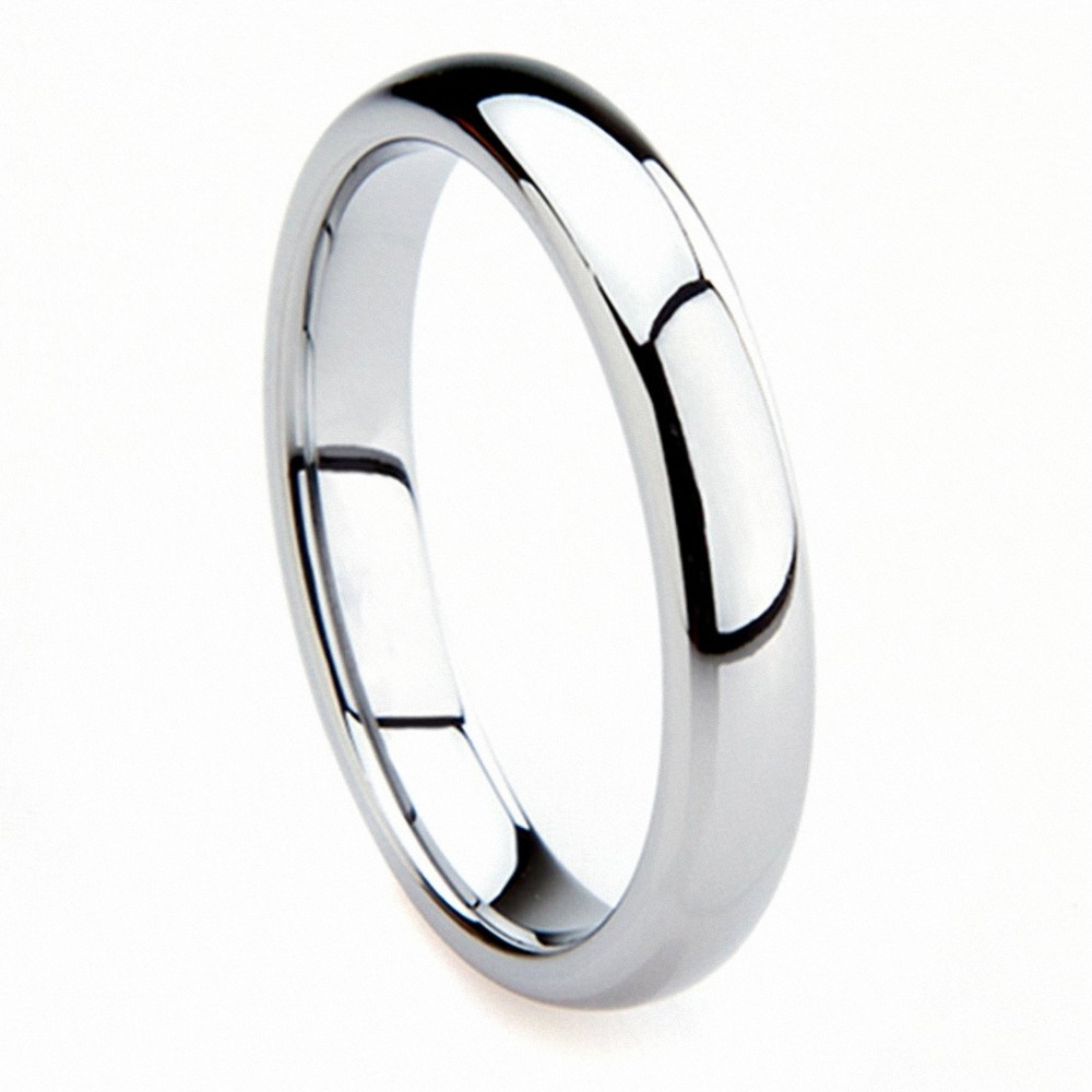 Queenwish 3mm White Tungsten Carbide Engagement Classic Wedding Rings Band Comfort Fit US Size 5-10 line art