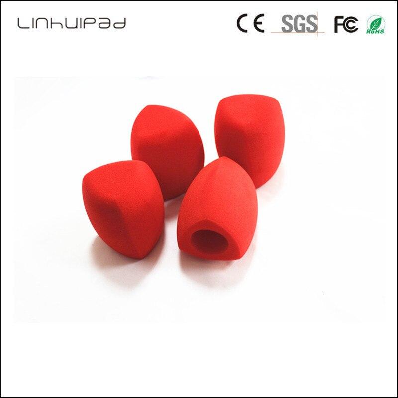 "Купить с кэшбэком Linhuipad Bule triangle Interview microphone Windscreen Foam Cover Inside Diameter: 4 CM (about .1.57"") 1 PCS/LOT"