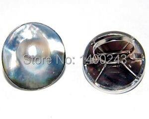 8 #22mm 925 argent Sterling naturel noir mer eau faite perle anneau pour les femmes