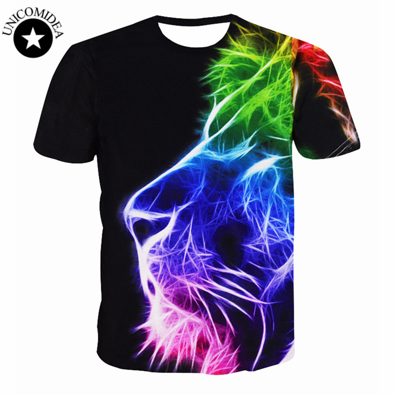 New Fashion Women Men Hip Hop T Shirt 3d Animal Printed Lion Head T Shirt Mens 3d T-shirt T Shirt Homme Brand Clothing For Men