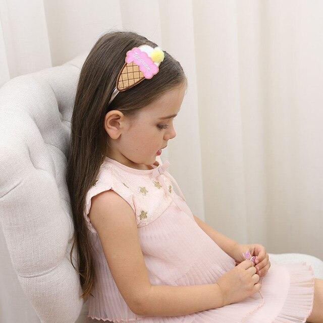 1 pcs novo bonito grande sorvete crianças cabelo hoop boutique bebê hairbands princesa headwear meninas acessórios para o cabelo crianças hairbands