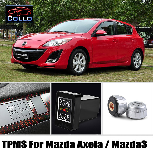 Perfect Auto TPMS For TOYOTA Mazda 3 Mazda3 Axela / Tire Pressure Monitoring System  Of External Sensors