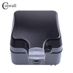 Image 5 - Coswall IP66 עמיד עמיד למים חיצוני תיבת קיר שקע חשמל 1 כנופיית אוניברסלי/תקן בריטי להעביר לשקע עם ניאון