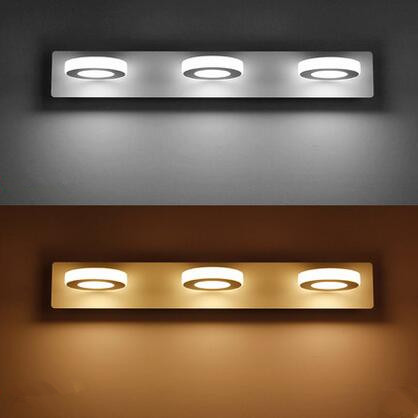 Acrylic Modern LED Bathroom Mirror Light Concise Wall Lamp Fixtures For Home Lighting Indoor Bedside Lights lampada de led simple art modern led wall light fixtures for home indoor lighting acrylic round wall sconces bedside wall lamps lampara pared