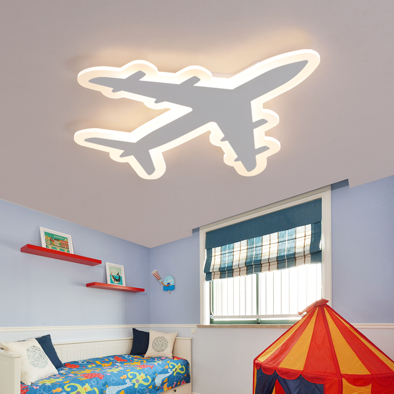 Image 2 - DIY Acrylic Airplane LED Ceiling Light  Modern Kids Bedroom Ceiling lamp  decorative home indoor lighting-in Ceiling Lights from Lights & Lighting