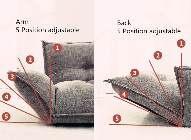 PromoteτFolding Sofa Furniture Couch Reclining Living-Room Japanese-Style Adjustable Position