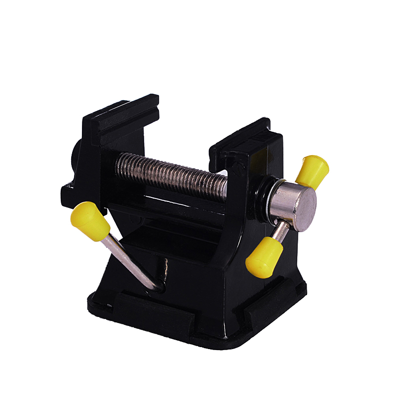 Mini Bench Vise Carving Tool Black Vise Tool Rubber Suction Base Fixture Clamp Repairing Adjustable Tool