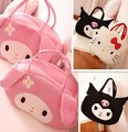 Cute Kawaii 36cm Pink Color Cartoon Hello Kitty Demon Baby Girls Mini Soft Plush Backpack Kids Children Handbag For Toy