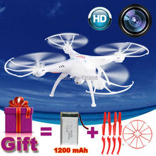 2.4g 32 cm syma x5sc drone rc quadcopter con cámara de 2mp hd Regalo modelo de helicóptero de control Remoto 1200 mAh actualiza Batería VS X5HW