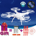2.4G Syma X5SC rc drone quadcopter com câmera de 2MP HD FPV Presente modelo de helicóptero de controle Remoto 1200 mAh Bateria atualização VS X5HW
