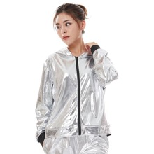 New Fashion Spring Autumn Kids Adults Bomber Coat Women Jazz Loose Hip Hop Stage Silver Performance Top Streetwear Dance Jacket kids girl sequin dancing costume jacket coat crop top shorts hip hop jazz dance clothes for children girls street dance hip hop