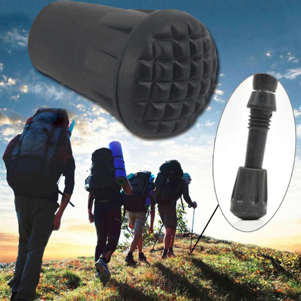 1pc wearable ponta de borracha tampa final martelo trekking pólo caminhadas vara cana