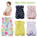 New 2016 Summer 100% Cotton Ropa Bebe Newborn Baby Boys girls  Clothing Clothes Creeper Jumpsuit Short Sleeve jumpsuits Baby Boy
