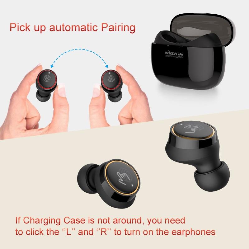 NILLKIN TWS bluetooth earphone Blutooth 5.0 Earphone with charging case microphone Handsfree Earbuds Gaming Wireless Head phones