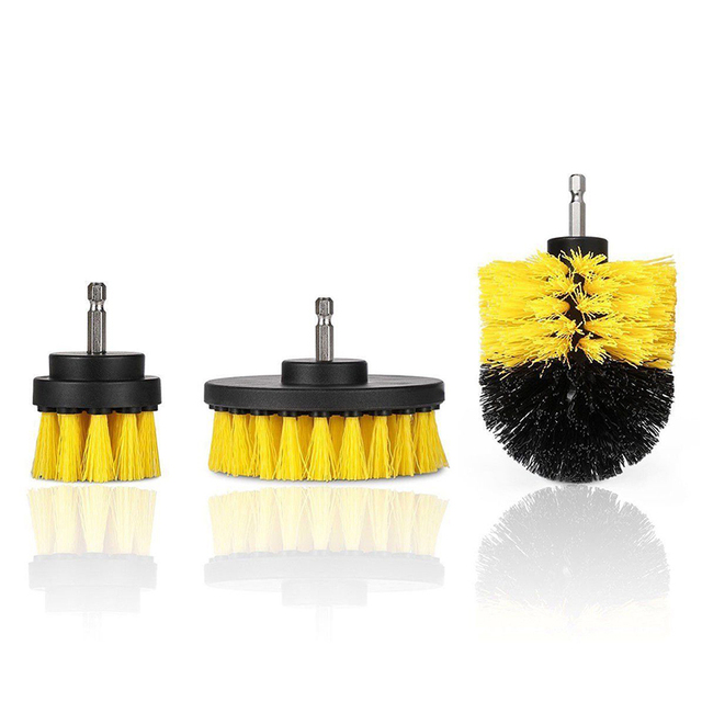 3 pcs Power Scrubber Brush Set for Bathroom | Drill Scrubber Brush for Cleaning Cordless Drill Attachment Kit Power Scrub Brush 3
