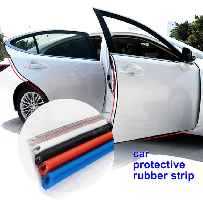 Car Door Protection Strips Rubber Edge Doors Moldings Side Protector Sticker Scratches Vehicle For Cars Auto Car styling 4 x car door protector side edge scrape strips guard sticker auto door bumper edge guards sticker car scratch protection tape