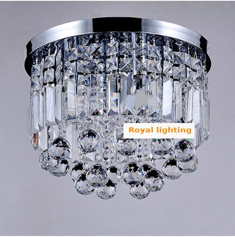 Milan mini veranda licht esszimmer runden kristall deckenleuchte E27 led lampe klarem kristall Küche Flur deckenleuchte - 6