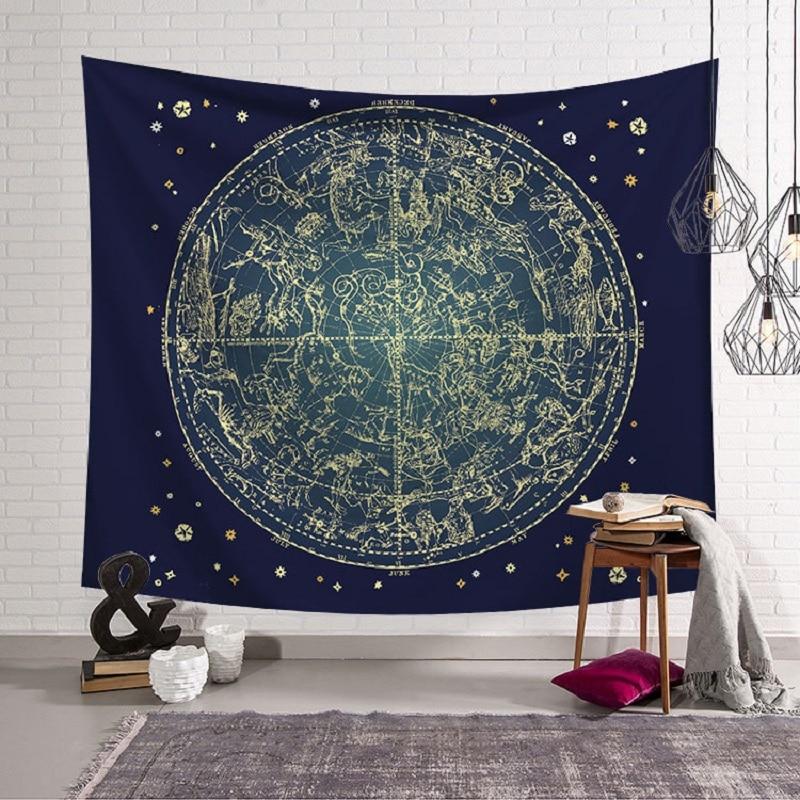 Constellation Mandala Tapestry Indian Print tapestry mandalas Blanket Wall Hanging 3D Psychedelic Home tapestry arazzo da parete