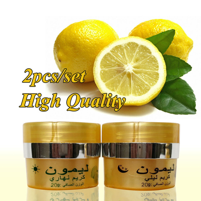 lemon skin lightening cream day cream+night cream whitening cream for face