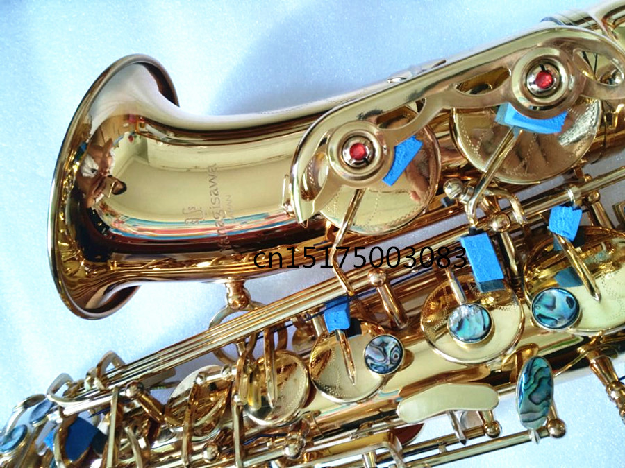 Alto Saxophone instrument 2017 new Yanagisawa Alto saxophone Electrophoretic gold The metal mouthpiece Hot selling Sax 1 piece genuine original bg l11 alto sax mouthpiece metal cap clip containing a gold plated clip for alto saxophone use