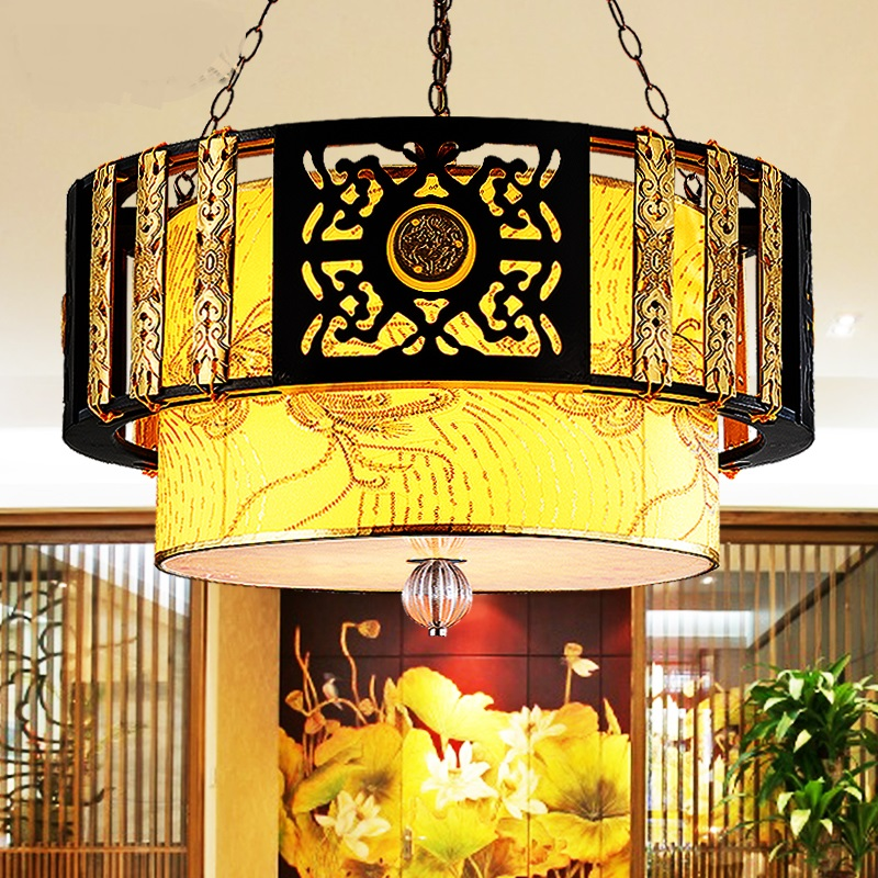 cloth pendant lamps Chinese style living room lamps lamp Classical Hotel pendant light decorative light Restaurant lamp ZA914652 pendant light living room lamps restaurant lamp american style copper brief pendant light