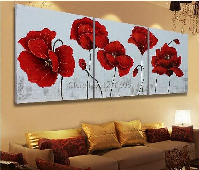 3 panel venta caliente pintura mural moderna pintura - Cuadros murales para pared ...