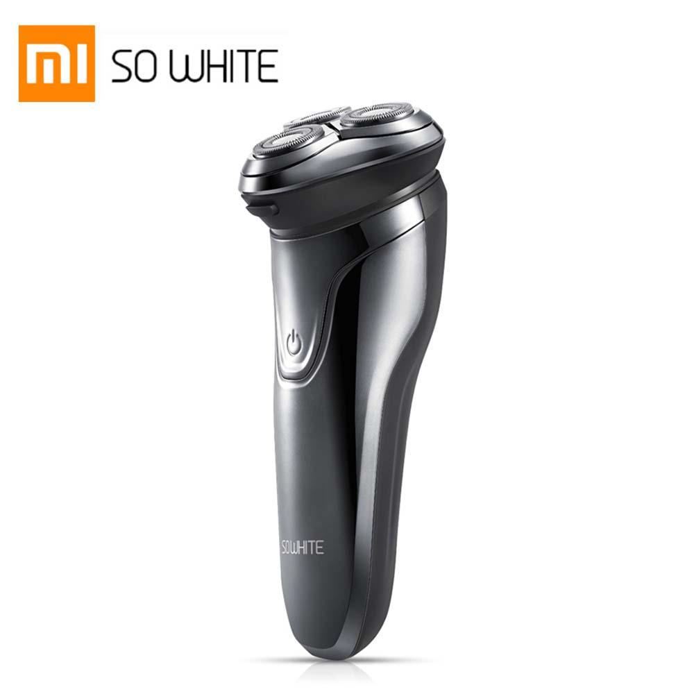 XIAOMI SO WHITE Wireless 3D Smart Floating USB Charging Electric Razor Shaver IPX7 Waterproof Blocking Protection For Men(China)