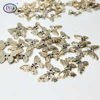 2019 Promotion Hl 22mmx17mm 50pcs 2 Holes Plating Plastic Butterfly Buttons Apparel Sewing Accessories Diy Scrapbooking Crafts
