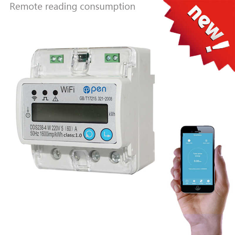 WIFI  remote control Smart Switch with energy monitoring over/under voltage protection for Smart home