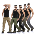 2015 New Men's Military Pants Washed Camouflage Outdoors Cargo Jeans 5 Colors Plus Size Brand Men's Clothing
