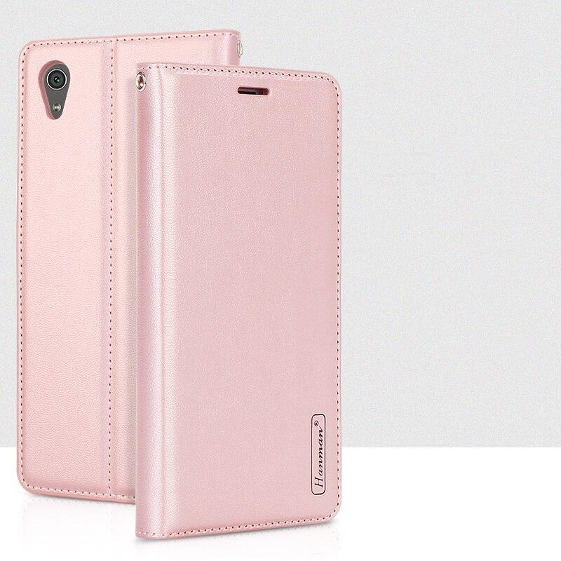 Hanman Magnétique Stand Cover Case Portefeuille En Cuir pour Sony Xperia X Performance XA Ultra C6 XA1 Ultra XZ Prime XZS sac