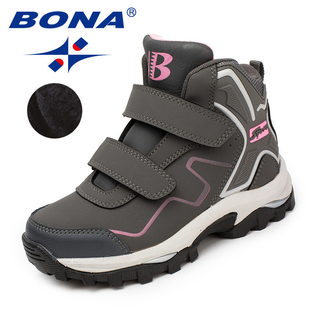 BONA New Typical Style Children Boots Hook & Loop Boys Winter Shoes Synthetic Girls Ankle Boots Comfortable Fast Free Shipping