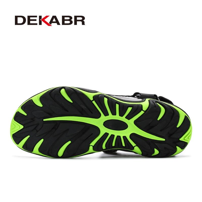 Image 4 - DEKABR High Quality Summer Men Sandals Real Leather NonSplit Soft Comfortable Men Shoes New Fashion Men Casual Shoes Size 39~45Mens Sandals   -