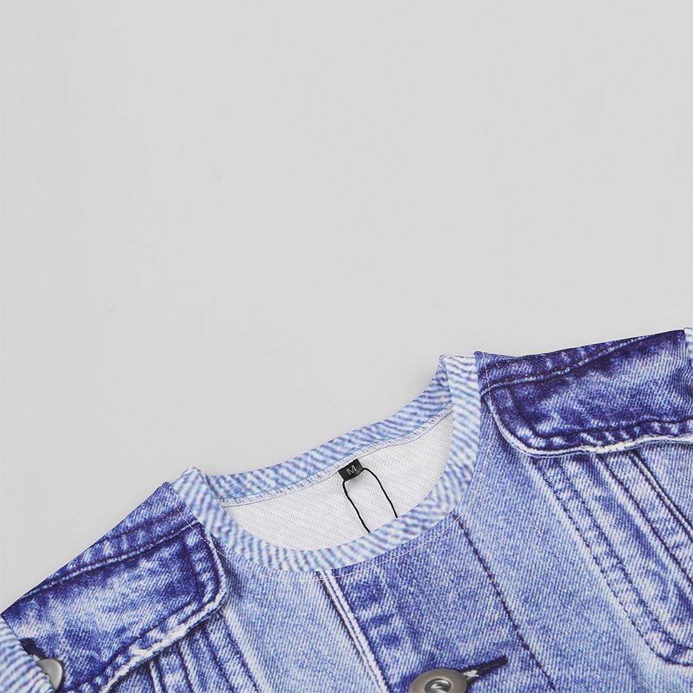 KYKU Jeans T-shirt Kişi / qadın Saxta T Köynək Əyləncəli - Kişi geyimi - Fotoqrafiya 4