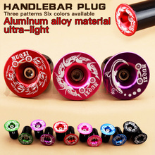 1 pairs Bike Handlebar End Plugs MTB Road Bicycle Cycling Aluminum Handlebar Grips High Quality Handle Bar Cap цена